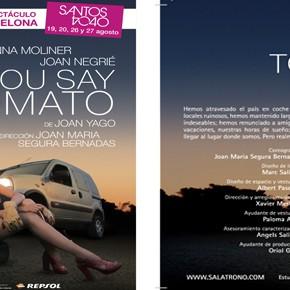 Llega YOU SAY TOMATO, el espectáculo revelación de Barcelona a SANTOS 4040