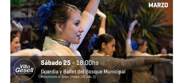 Este sábado en Villa Gesell, show a cargo de La Guardia y Ballet del Bosque Municipal
