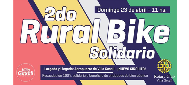 2do Rural Bike Solidario en Villa Gesell!!